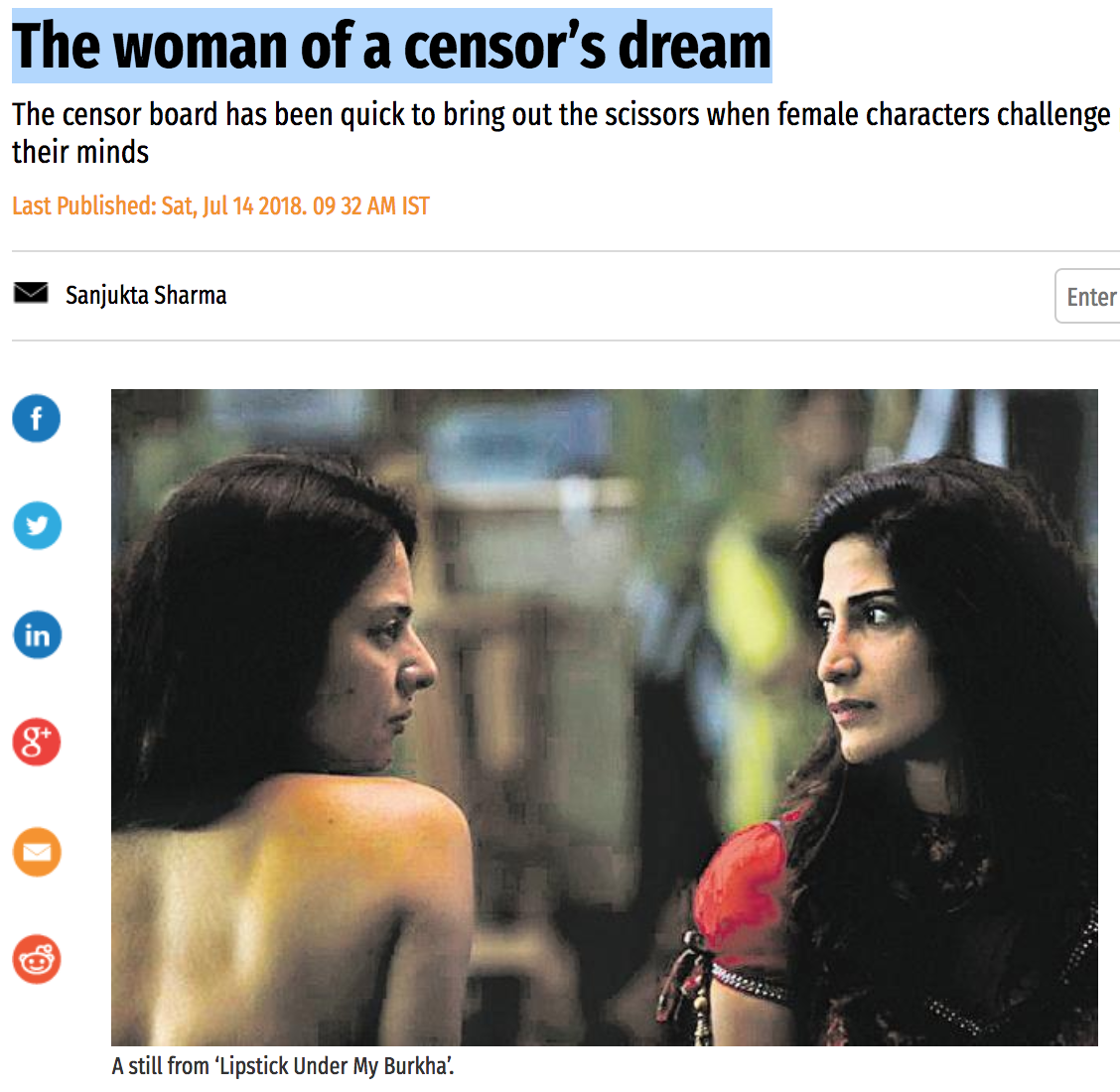 The woman of a censor's dream